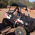 Laura on an ATV in Sedona