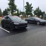 Bob Saunders' Tesla and another recharging