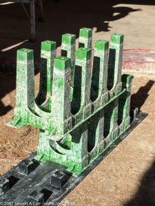 Structural frame interlocks for blocks