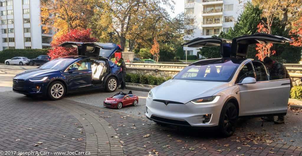 Two Model X ready for test drives, and kid's Model S