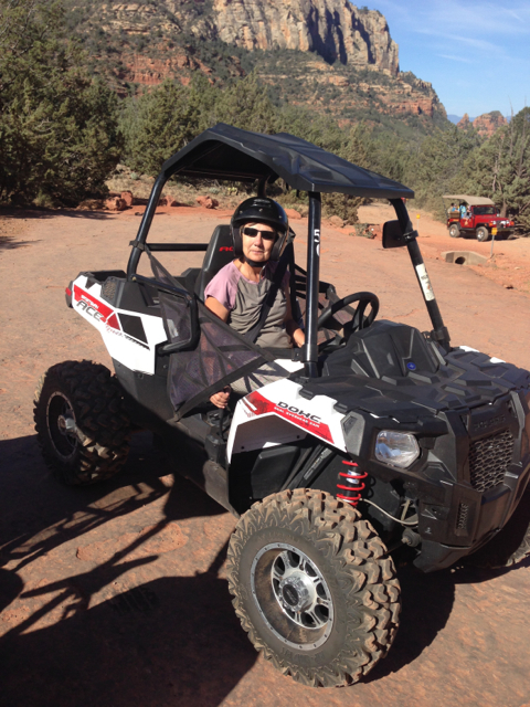 Laura on an ATV in Sedona