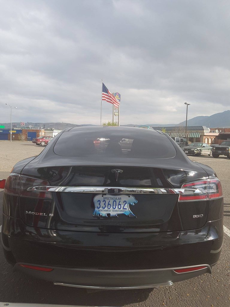 Locke family's Model S with NWT license plate