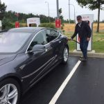 Bob Saunders' Tesla recharging