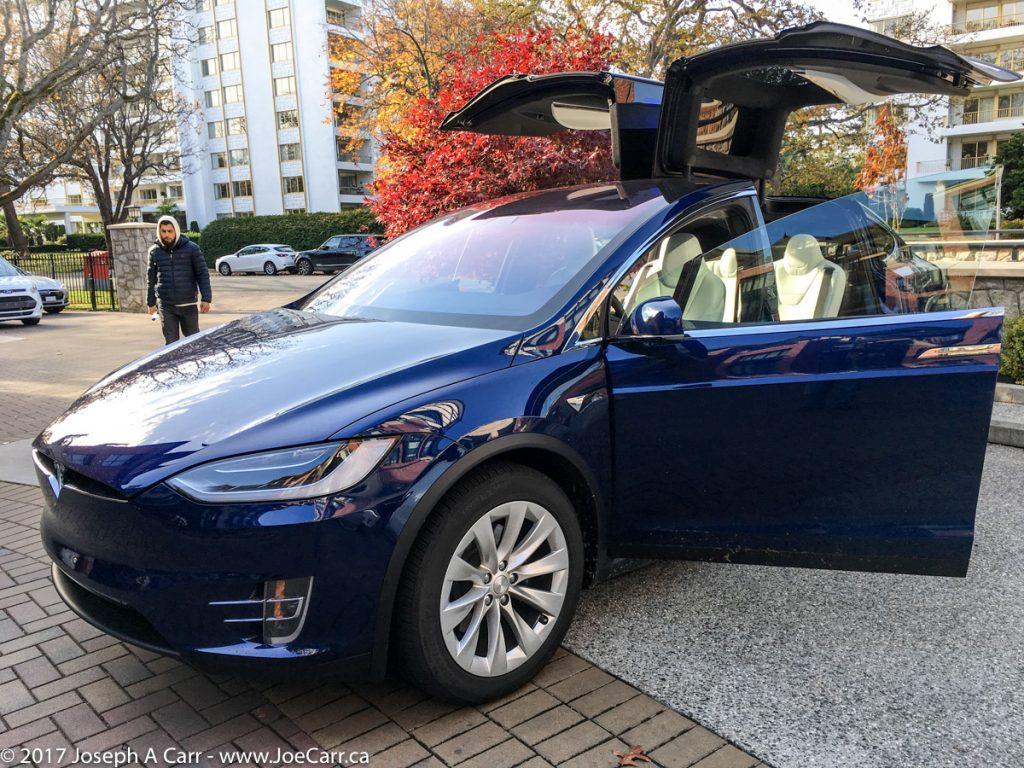 Tesla Model X ready for a test drive