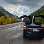The Locke's Tesla Model X 90D in Glacier National Park