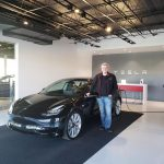 James picking up his new Model 3 performance in Calgary